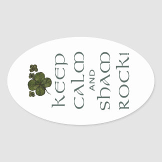 Keep Calm and Sham Rock! Stickers
