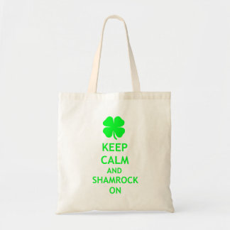 Keep Calm and Shamrock On Tote Bag