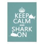Keep Calm and Shark On (customizable colors) Announcement