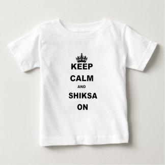 KEEP CALM AND SHIKSA ON.png Baby T-Shirt