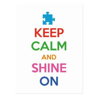 Keep Calm And Shine On Postcard