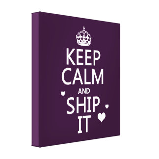 Keep Calm and Ship It (hearts) (in any color) Canvas Print