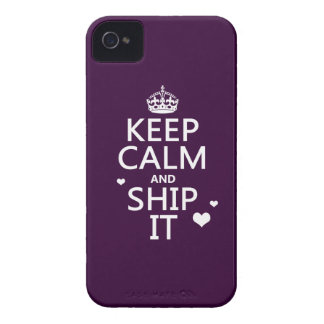 Keep Calm and Ship It hearts in any color Case-Mate iPhone 4 Cases
