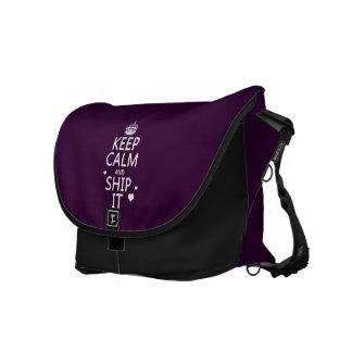 Keep Calm and Ship It (hearts) (in any color) Courier Bag