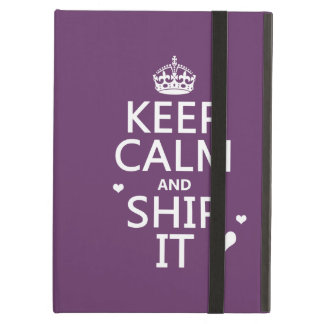 Keep Calm and Ship It (hearts) (in any color) iPad Air Cover