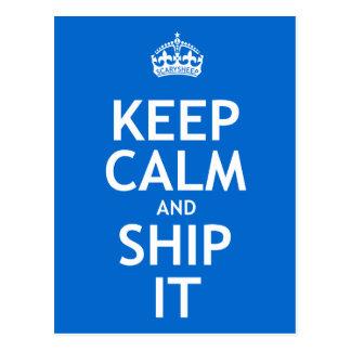 Keep Calm and Ship It Postcard