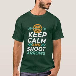 Keep Calm And Shoot Arrows Archery Sports T-shirt