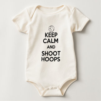 Keep Calm and Shoot Hoops Baby Bodysuit