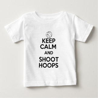 Keep Calm and Shoot Hoops Baby T-Shirt