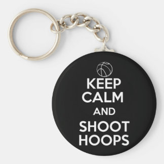 Keep Calm and Shoot Hoops Basic Round Button Keychain