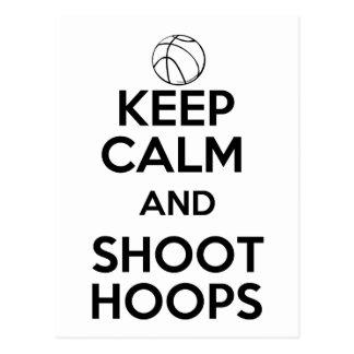 Keep Calm and Shoot Hoops Postcard