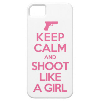 Keep Calm and Shoot Like a Girl Iphone 5 Case