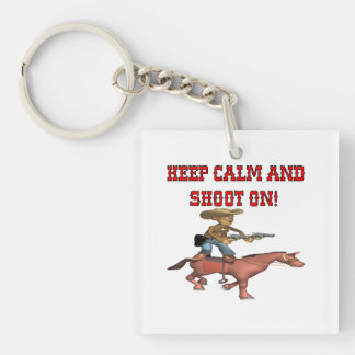 Keep Calm And Shoot On Keychain