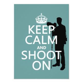 Keep Calm and Shoot On (photography) Card