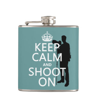 Keep Calm and Shoot On (photography) Flask