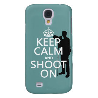 Keep Calm and Shoot On (photography) Galaxy S4 Case