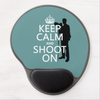 Keep Calm and Shoot On (photography) Gel Mouse Pad