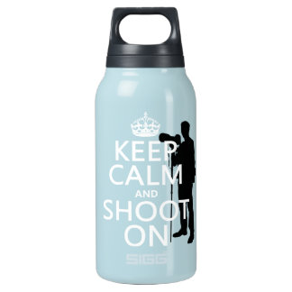 Keep Calm and Shoot On (photography) Insulated Water Bottle