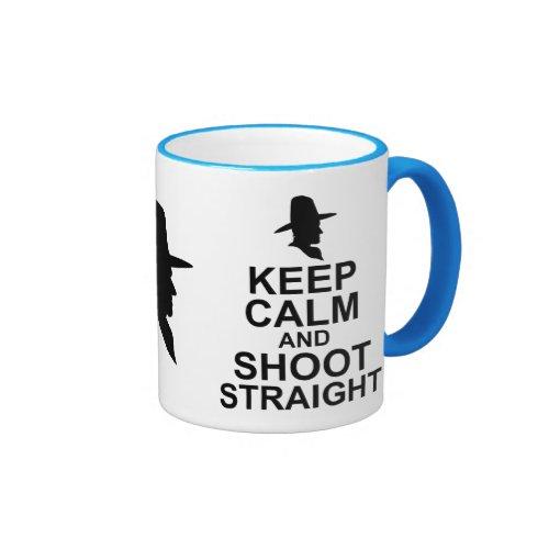 Keep Calm and Shoot Straight Ringer Coffee Mug