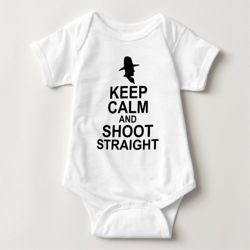 Keep Calm and Shoot Straight Baby Jersey Bodysuit
