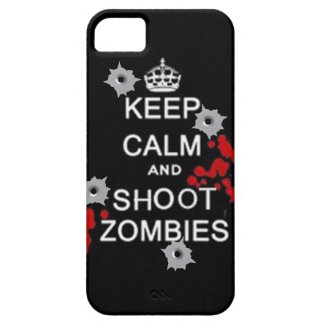 keep calm and shoot zombies phone case