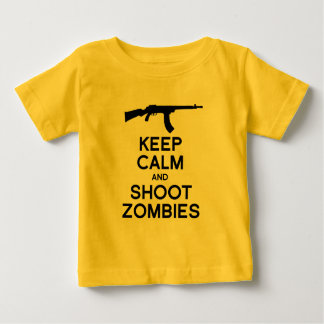 KEEP CALM AND SHOOT ZOMBIES -.png T Shirts