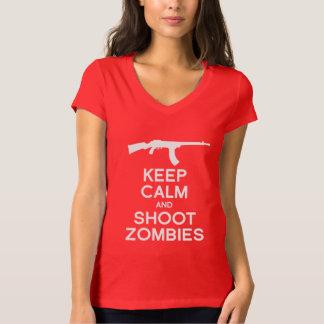 KEEP CALM AND SHOOT ZOMBIES TEE SHIRT