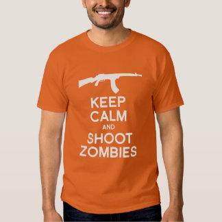 KEEP CALM AND SHOOT ZOMBIES TEE SHIRTS
