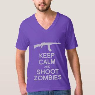 KEEP CALM AND SHOOT ZOMBIES TEES