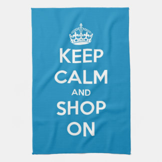 Keep Calm and Shop Bright Blue Towels