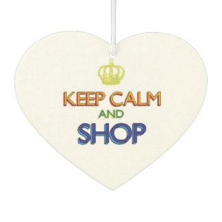 Keep Calm and Shop Car Air Freshener
