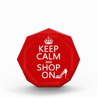 Keep Calm and Shop On - all colors Acrylic Award