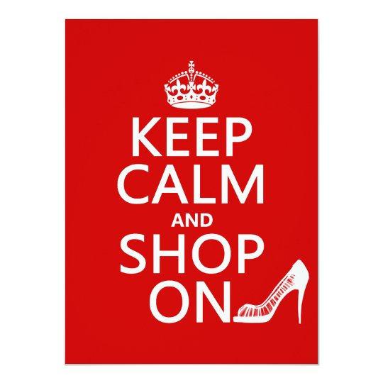 Keep Calm and Shop On - all colors Card