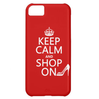 Keep Calm and Shop On - all colors iPhone 5C Covers