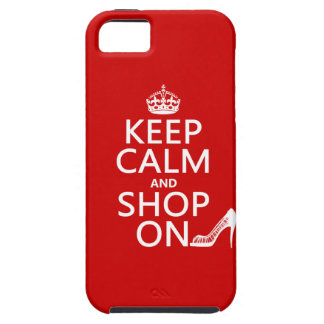 Keep Calm and Shop On - all colors iPhone 5 Cover