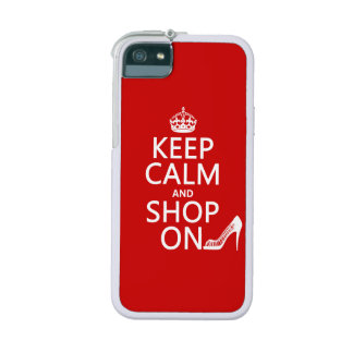 Keep Calm and Shop On - all colors iPhone 5/5S Cover