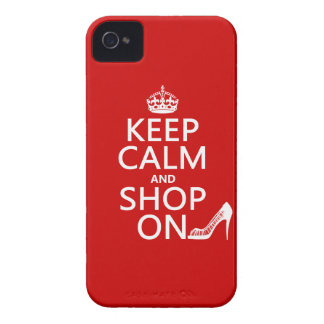 Keep Calm and Shop On - all colors iPhone 4 Case