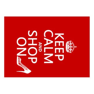 Keep Calm and Shop On - all colors Large Business Card