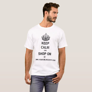 """Keep Calm And Shop On at """"Website"""" Personalized T-Shirt"""