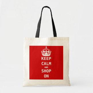 KEEP CALM AND SHOP ON CANVAS BAG