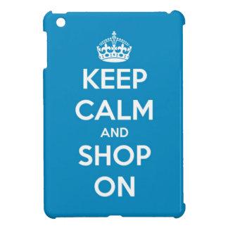 Keep Calm and Shop On Bright Blue iPad Mini Case