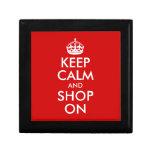 Keep Calm and Shop On Jewelry Box