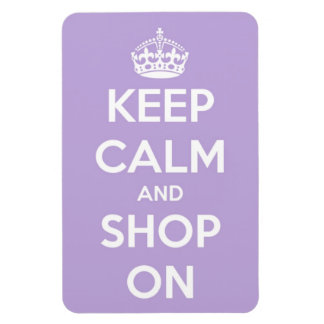 Keep Calm and Shop On Lavender Rectangular Photo Magnet