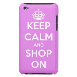Keep Calm and Shop On Pink Barely There iPod Cover