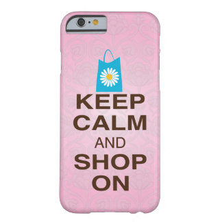 KEEP CALM and SHOP ON Pink Blue iPhone 6 case