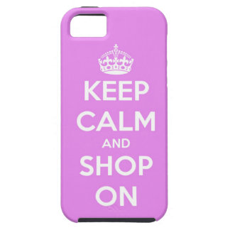 Keep Calm and Shop On Pink iPhone 5 Covers