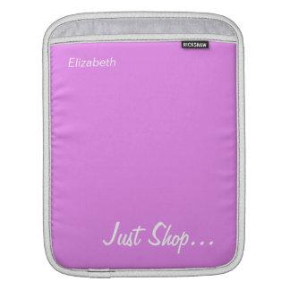 Keep Calm and Shop On Pink iPad Sleeve