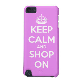 Keep Calm and Shop On Pink iPod Touch (5th Generation) Covers