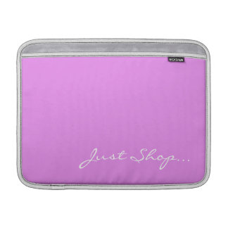 Keep Calm and Shop On Pink Sleeve For MacBook Air