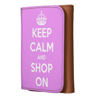 Keep Calm and Shop On Pink Wallet